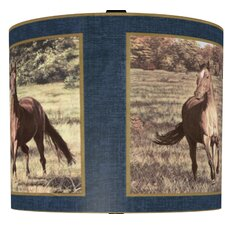 "11"" Majestic Horses Drum Shade"