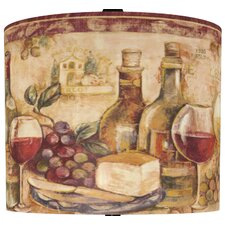 "11"" Wine Still Life Drum Shade"