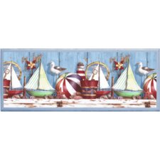 Ships Painting Print on Plaque