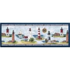 Lighthouse Painting Print on Plaque