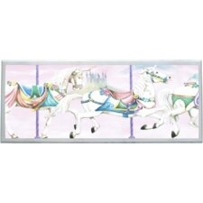 Unicorn Carousel Wall Plaque