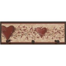 <strong>Illumalite Designs</strong> Hearts and Vine Wall Plaque with Wooden Pegs