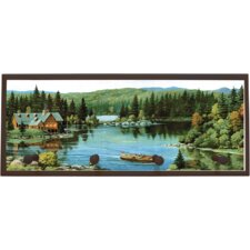Serene Waters Graphic Art on Plaque