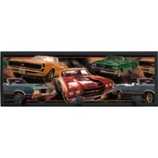 Muscle Cars Wall Plaque with Wooden Pegs