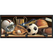 Classic Sports Wall Plaque with Wooden Pegs