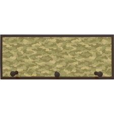 Camouflage Wall Plaque with Wooden Pegs