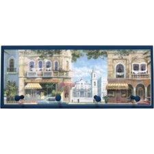 Havana Street Scene Painting Print on Plaque with Pegs