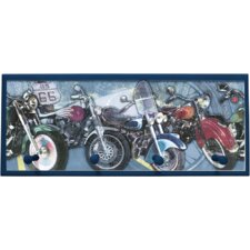 Motorcycle Painting Print on Plaque with Pegs