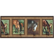 <strong>Illumalite Designs</strong> Mare and Foal Wall Plaque with Wooden Pegs