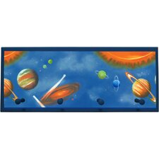 Solar System Wall Plaque with Wooden Pegs