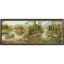 Rustic Creek Painting Print on Plaque