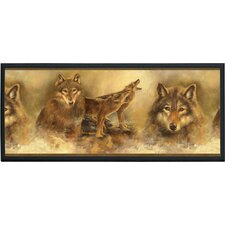Howling Wolves Painting Print on Plaque