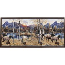 Wild Elk Painting Print on Plaque