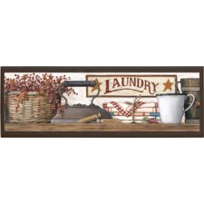 "Country Laundry Wall Art - 7"" x 20.5"""