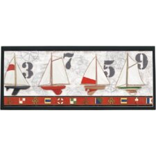 Captains Harbor Painting Print on Plaque