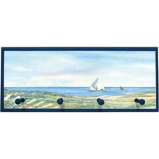 Coastal Lighthouse Painting Print on Plaque with Pegs