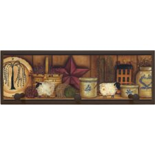 Country Pottery Framed Painting Print with Pegs