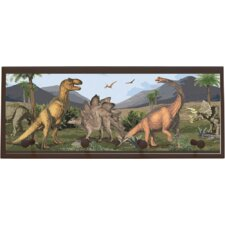 "Dino Wall Art with Pegs - 10.25"" x 25"""