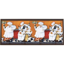 Chefs A Cookin Painting Print on Plaque
