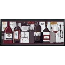 "Wine Bottles Wall Art - 10.25"" x 25"""