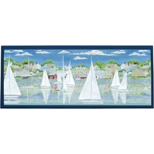 Racing Yachts Framed Painting Print