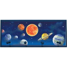 Planet Framed Painting Print with Pegs