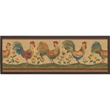 "Roosters Wall Art - 7"" x 20.5"""
