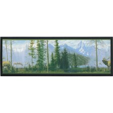 Misty Mountain Framed Painting Print