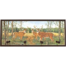 Deer Prairie Framed Painting Print