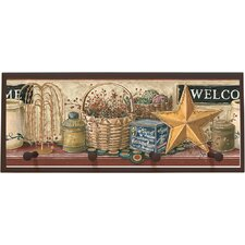 Country Welcome Sign Wall Plaque