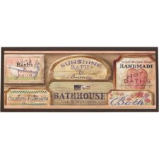 Bath House Vintage Wall Plaque