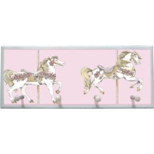 Toile Carousel Framed Graphic Art