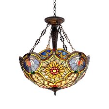 <strong>Chloe Lighting</strong> Victorian 3 Light Rebecca Inverted Ceiling Pendant