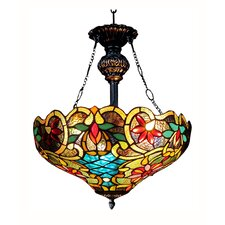 Victorian 2 Light Leslie Inverted Ceiling Pendent