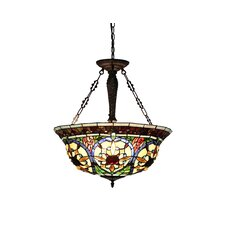 Victorian 3 Light Harlan Inverted Ceiling Pendant