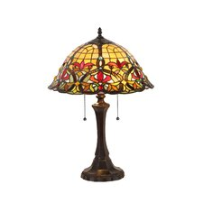 """Victorian Bertram 21.7"""" H Table Lamp with Bowl Shade"""