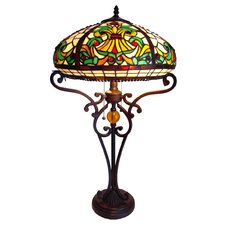 <strong>Chloe Lighting</strong> Tiffany Style Victorian Table Lamp with 66 Cabochons