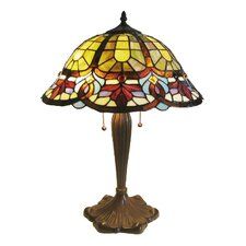 <strong>Chloe Lighting</strong> Tiffany Style Victorian Table Lamp with 14 Cabochons