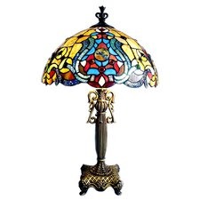 <strong>Chloe Lighting</strong> Tiffany Style Victorian Table Lamp with 53 Cabochons