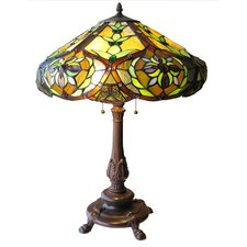 """Tiffany Victorian 27"""" H Table Lamp with Bowl Shade"""