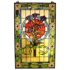 <strong>Chloe Lighting</strong> Tiffany Style Tulips Window Panel