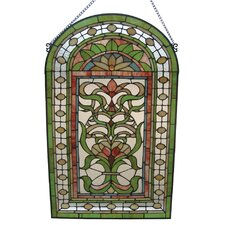 Tiffany Style Regency Floral Window Panel