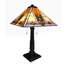"""Juniper Valerian Mission 22"""" H Table Lamp with Square Shade"""