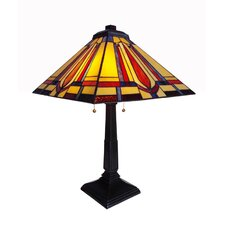 """Seaside Bliss Mission 23"""" H Table Lamp with Square Shade"""