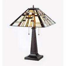 """Farley 24"""" H Table Lamp with Square Shade"""