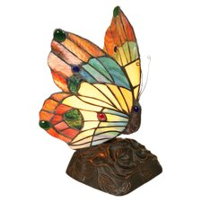 <strong>Chloe Lighting</strong> Tiffany Style Butterfly Accent Table Lamp