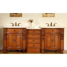 "Savannah 84"" Double Bathroom Vanity Set"