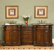 "Empress 84.5"" Double Sink Bathroom Vanity Set"