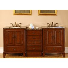 "Allegheny 76"" Double Bathroom Vanity Set"