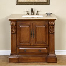 "<strong>Silkroad Exclusive</strong> Montgomery 38.75"" Single Bathroom Vanity Set"